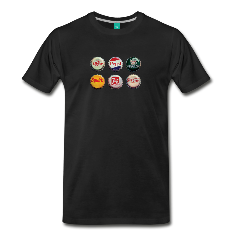 Bottle caps on a premium unisex T-shirt - black