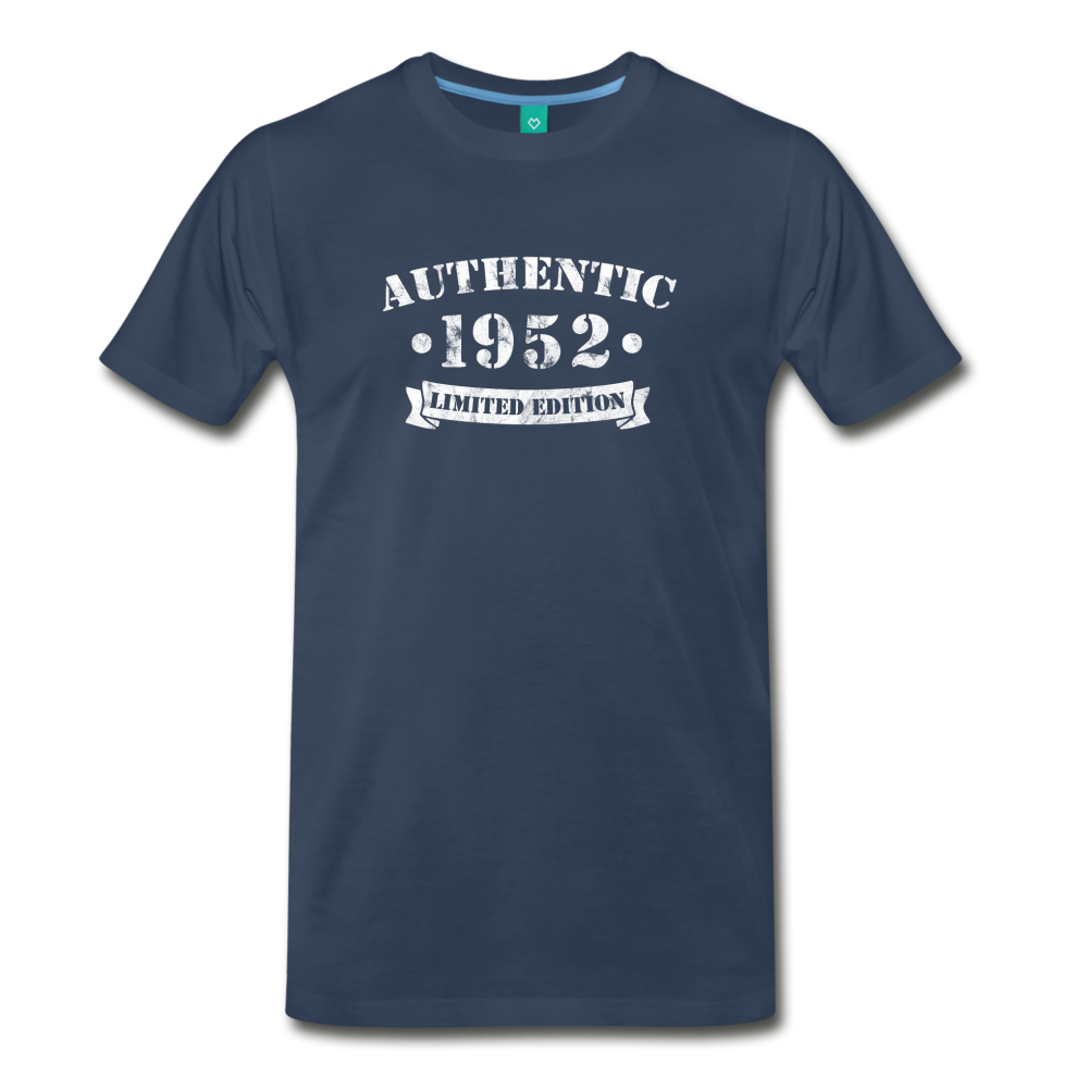 on a premium unisex T-shirt - navy