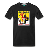 Vintage CHICAGO tourism graphic on a premium unisex T-shirt
