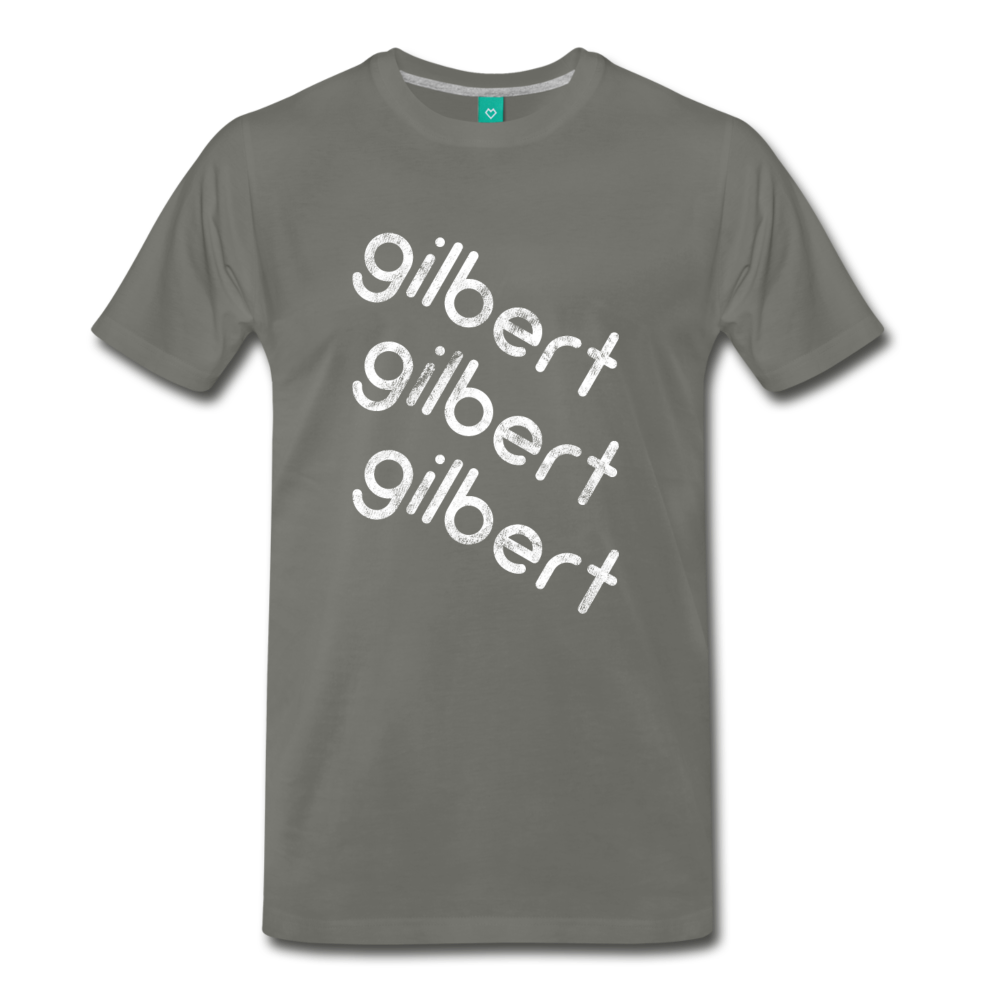 GILBERT on a premium unisex T-shirt - asphalt gray