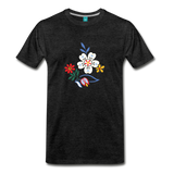 Flower design from 1940 on a premium unisex T-shirt - charcoal gray