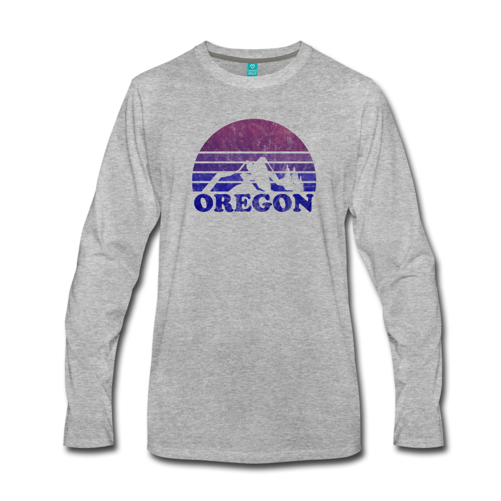 OREGON - Men's Premium Long Sleeve T-Shirt - heather gray