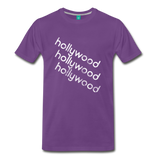 HOLLYWOOD city T-shirt: Vintage-style distressed graphic on a premium unisex shirt