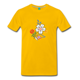 Flower design from 1940 on a premium unisex T-shirt - sun yellow