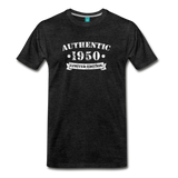 on a premium unisex T-shirt50 - charcoal gray