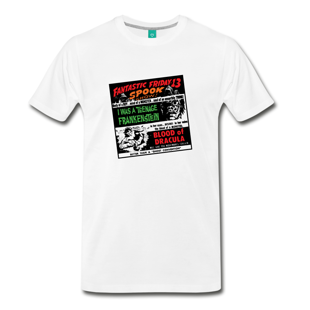Horror movies from 1959 - on a premium unisex T-shirt - white