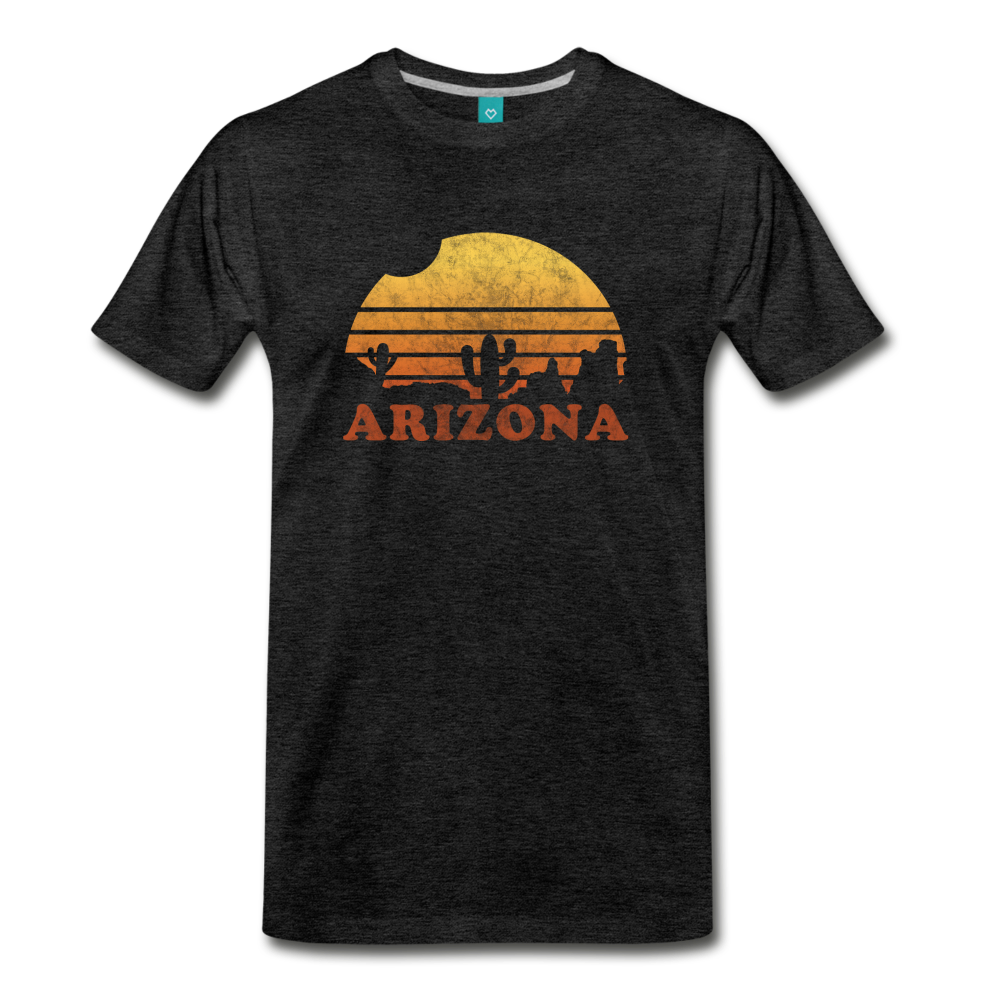 ARIZONA state T-shirt: Vintage-style distressed graphic on a premium unisex shirt - charcoal gray