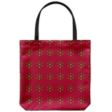 Starflower tote bags with vintage-inspired patterns - Available in 4 color schemes