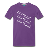 PORTLAND city T-shirt: Vintage-style distressed graphic on a premium unisex shirt