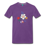 Flower design from 1940 on a premium unisex T-shirt - purple