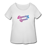 Dancing Queen Women's Curvy T-shirt - white