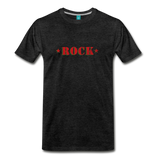 ROCK t-shirt on a premium unisex T-shirt - charcoal gray