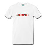 ROCK t-shirt on a premium unisex T-shirt - white