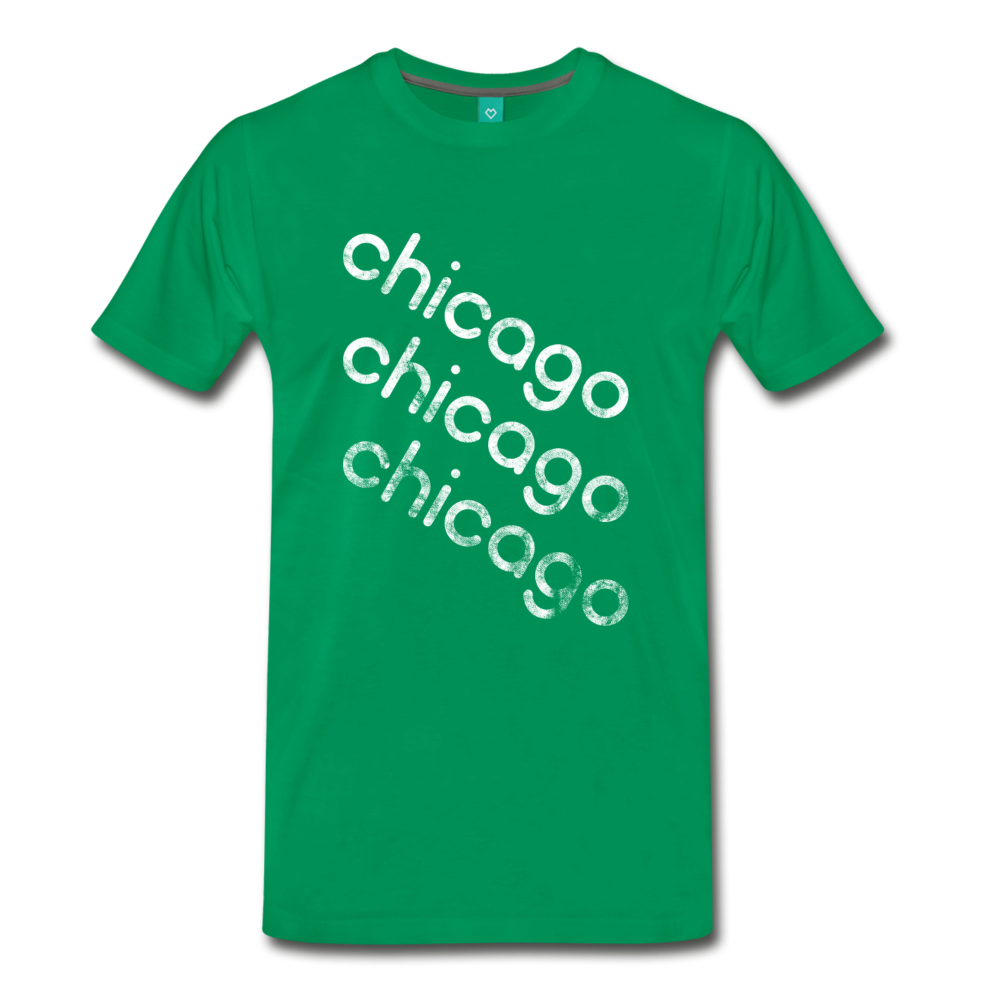 on a premium unisex T-shirt - kelly green