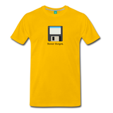 Forget disk on a premium unisex T-shirt - sun yellow