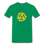 Vintage single record insert on a premium unisex T-shirt - kelly green
