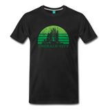 Emerald City - OZ T-shirt: Vintage-style distressed graphic on a premium unisex shirt - black