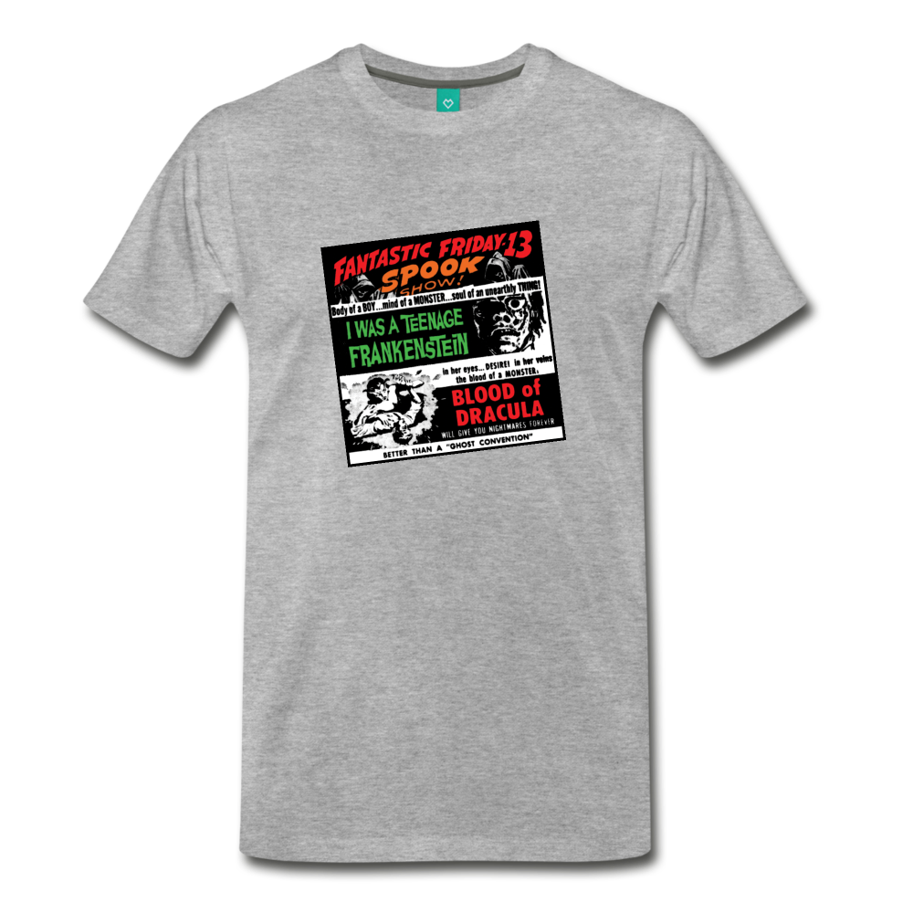 Horror movies from 1959 - on a premium unisex T-shirt - heather gray