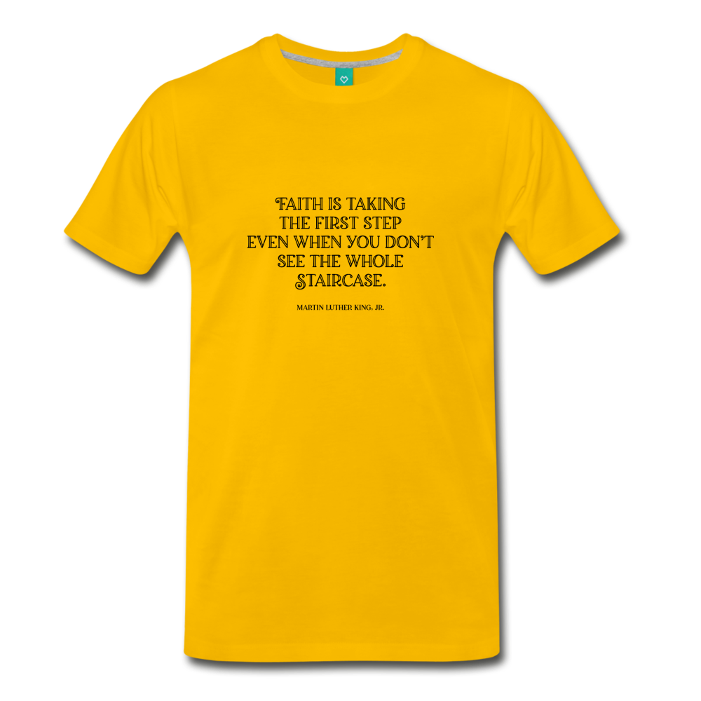 Faith on light on a premium unisex T-shirt - sun yellow