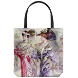 Tote bags with fashionable Victorian friends - 5 stylish authentic vintage designs