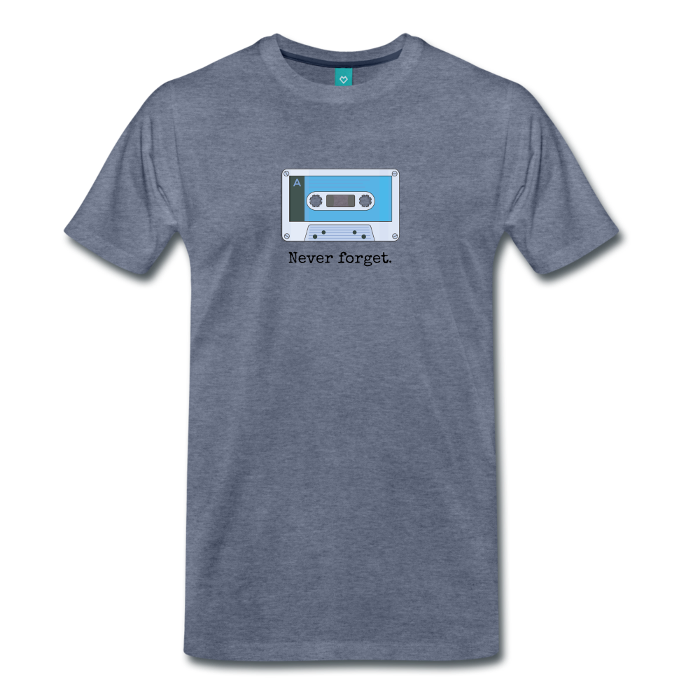 Forget tape on a premium unisex T-shirt - heather blue
