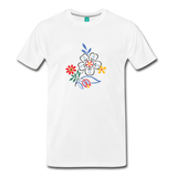Flower design from 1940 on a premium unisex T-shirt - white