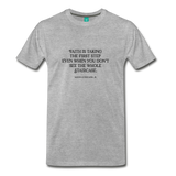 Faith on light on a premium unisex T-shirt - heather gray