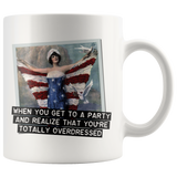 Funny mug: When you get to a party and realize you're totally overdressed