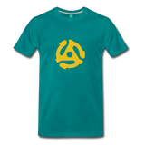 Vintage single record insert on a premium unisex T-shirt - teal