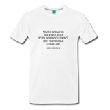 Faith on light on a premium unisex T-shirt - white