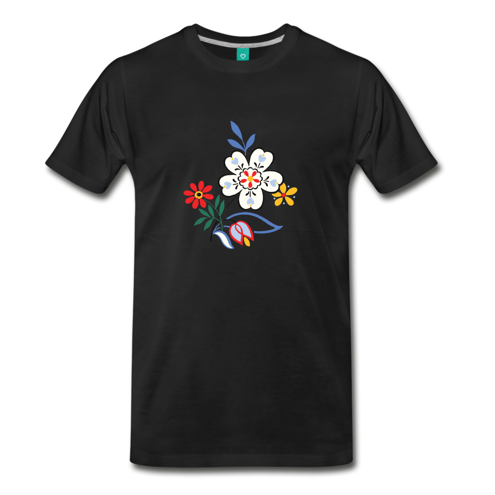 Flower design from 1940 on a premium unisex T-shirt - black