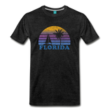FLORIDA state T-shirt: Vintage-style distressed graphic on a premium unisex shirt - charcoal gray
