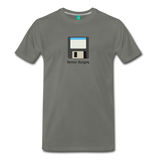 Forget disk on a premium unisex T-shirt - asphalt gray