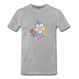 Flower design from 1940 on a premium unisex T-shirt - heather gray
