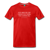 Roosevelt cannot do on dark on a premium unisex T-shirt - red