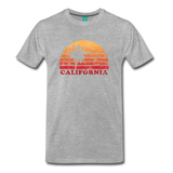 CALIFORNIA state long-sleeve shirt: Vintage-style distressed graphic on a premium top - heather gray