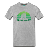 Emerald City - OZ T-shirt: Vintage-style distressed graphic on a premium unisex shirt - heather gray