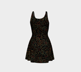 Pierced petals flare dress: Two antique patterns overlaid to create something brand-new