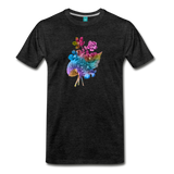 Flowers from 1854 - Recolored botanical print on unisex premium on a T-shirt - charcoal gray