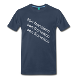 SAN FRANCISCO city T-shirt: Vintage-style distressed graphic on a premium unisex shirt