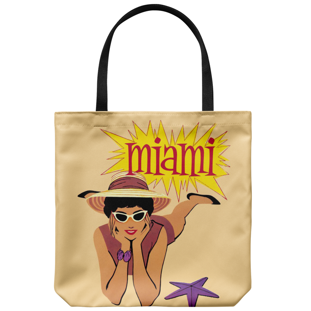Vintage-style Miami beach tote - Graphic design from the '60s
