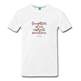 Laughter unisex on a premium unisex T-shirt - white