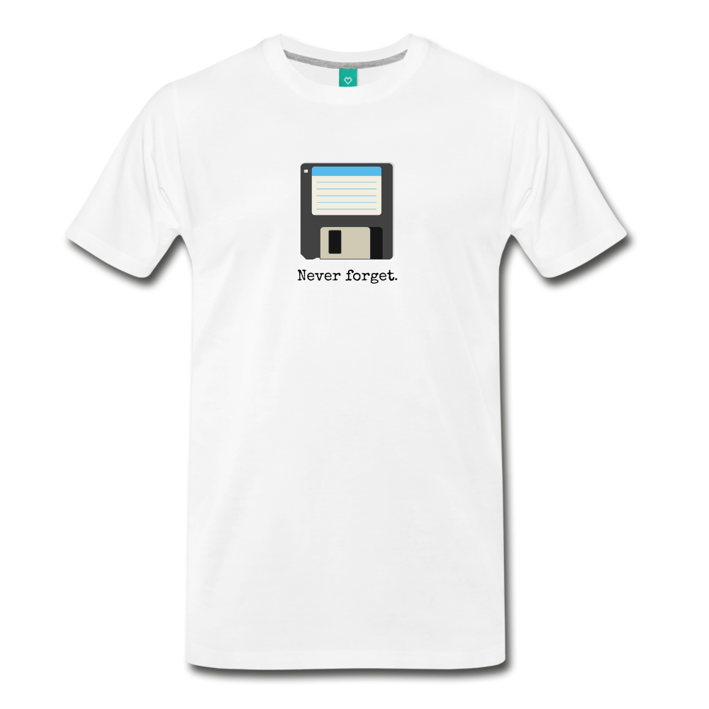 Forget disk on a premium unisex T-shirt - white
