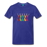 Happy '50s women jumping on a premium unisex T-shirt - royal blue