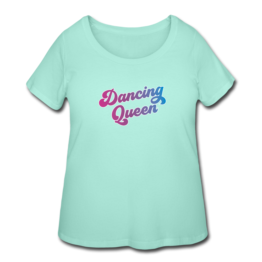 Dancing Queen Women's Curvy T-shirt - mint
