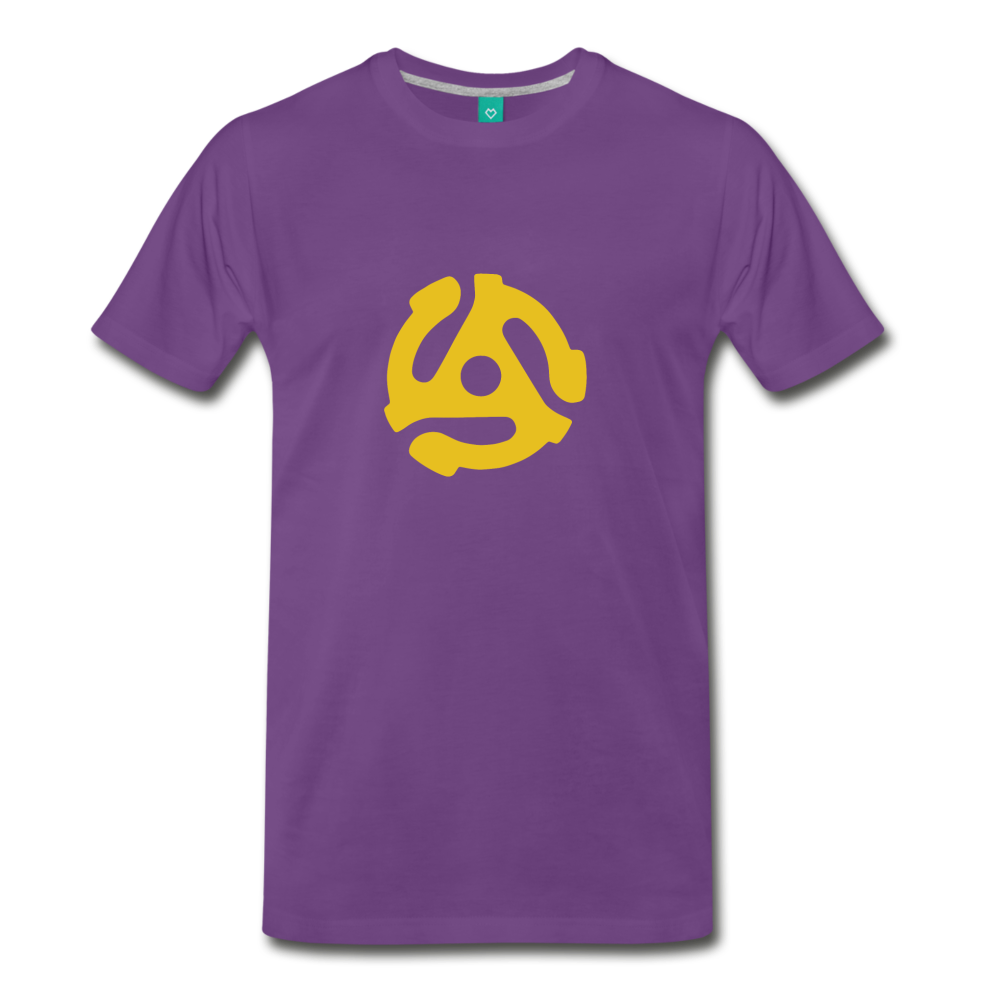 Vintage single record insert on a premium unisex T-shirt - purple