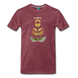 1917 butterflies on a premium unisex T-shirt - heather burgundy