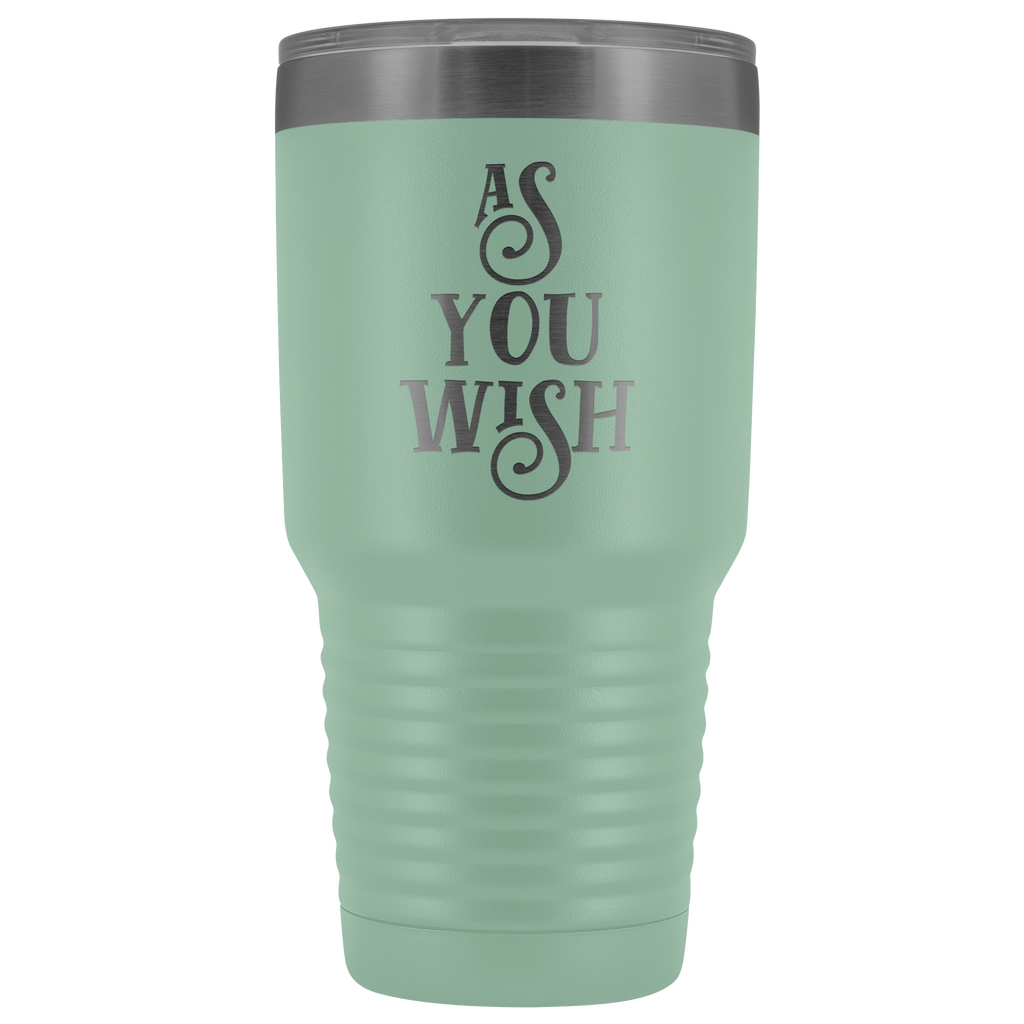 As you wish 30-ounce vacuum tumbler cup for big, cold drinks - in 12 colors