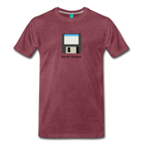 Forget disk on a premium unisex T-shirt - heather burgundy