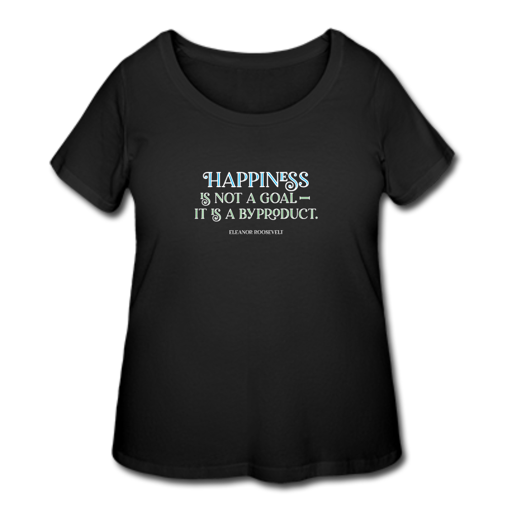 Happiness dark Women's Curvy T-shirt - black